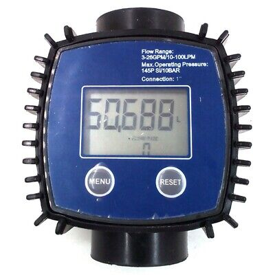K24 Adjustable Digital Turbine Flow Meter For Oil,Kerosene,Chemicals,Gasoli B9D5