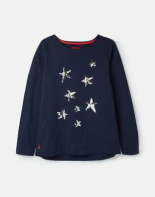 Joules 209272 Luxe Jersey Top Shirt in FRENCH NAVY STAR