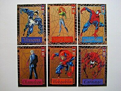 1994 Fleer Amazing Spider-Man *Gold Web* Complete 6 Card Chase Set **Rare**