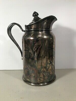 REED & BARTON SILVER SOLDERED  PITCHER~VINTAGE ANTIQUE~300-2p-3, Very Nice Cond