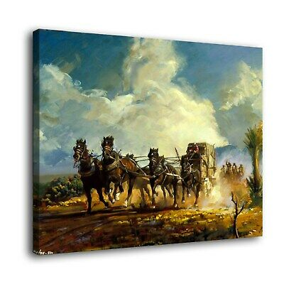 "Western Chase Paintings HD Print on Canvas Home Decor Wall Art Pictures16""x22"""
