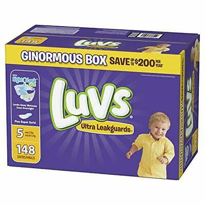 Luvs Ultra Triple Leakguards Disposable Baby Diapers 148 Count Diaper Size 5