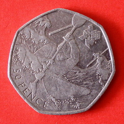 50p Coin - Olympic Canoeing - 2011 (ref:0789/90)
