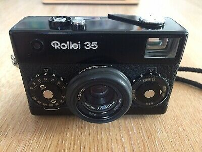 Rollei 35 Film Manual Camera with Tessar 40mm F/3.5 Lens - Black
