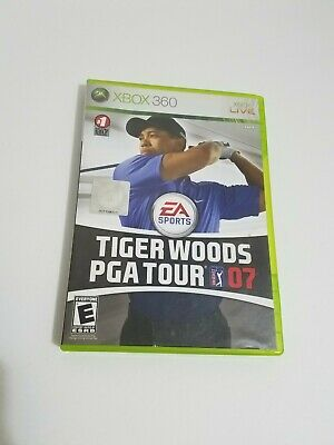 Tiger Woods PGA Tour 07 (Microsoft Xbox 360, 2006) Video game CIB Cleaned Tested