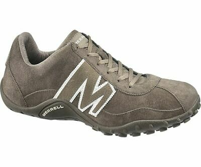 J544087 Merrell Sprint Blast Mens Leather Gunsmoke/White Trainers MRP £95.00