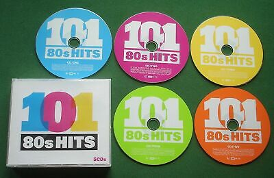 101 80s Hits Queen Specials David Bowie Dexys Proclaimers Marillion + 5 x CD