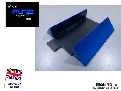 Official GENUINE Sony Playstation 2 PS2 Vertical Console Stand SCPH-10040 BLUE