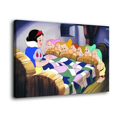 "Snow White Paintings HD Print on Canvas Home Decor Wall Art Picture 16""x24"""