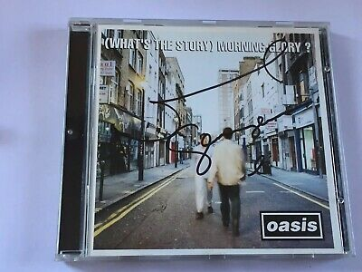 Oasis What's The Story Original CD Album (Signed Autographed) By Noel Gallagher
