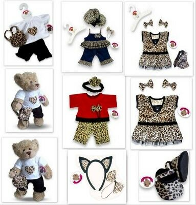 Teddy Bears Clothes fits Build a Bear Teddies Girl Outfit | Dress Leopard Detail