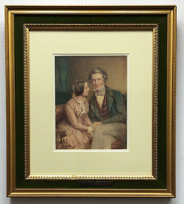 Alfred Thomas Derby (1821-1873) Original Watercolour Betrothed Couple