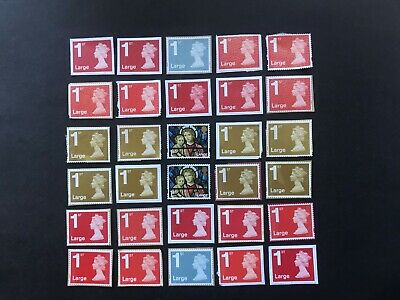 60  x UNFRANKED  'LARGE'  1st  class stamps ON paper  -  Face Value £63.60