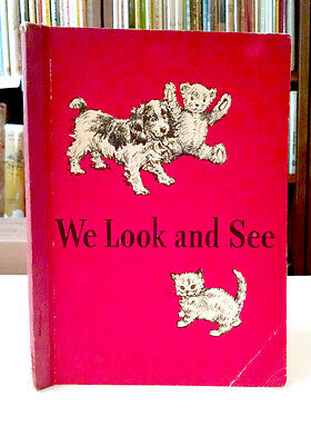 Dick and Jane, WE LOOK AND SEE, Examination Copy, Rare, 1940