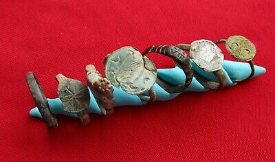Ancient Celtic , Roman . Illyrian ring's . Lot with 7 pieces