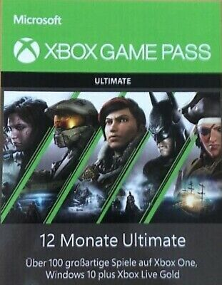 Xbox Game Pass Ultimate - 12 Monate - Xbox One - Windows 10 Live Gold.