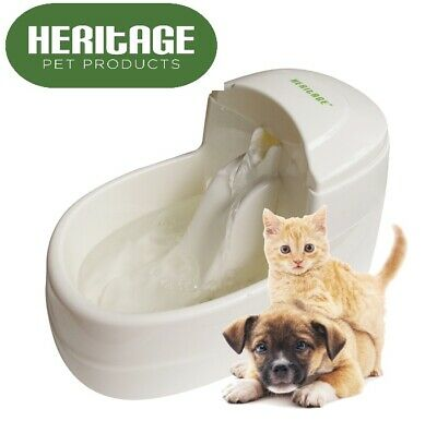 Heritage Cat Water Drinking Fountain Dog Puppy Drinker Fresh Automatic 2.5L Bowl