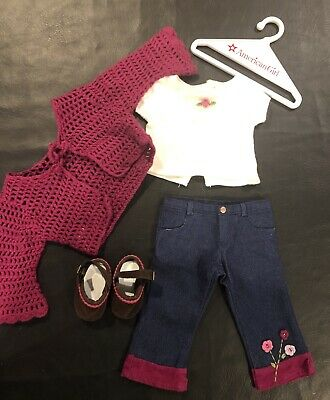 """American Girl 18"""" Doll Clothes Truly Me FLOWER POWER outfit & hanger"""