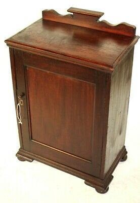 Vintage Mahogany Cabinet with Raised Back - FREE Shipping [5503]