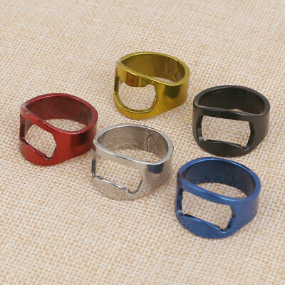 5pcs Set Creative Mixed Ring Beer Soda Bottle Opener Stainless Steel Tools USA