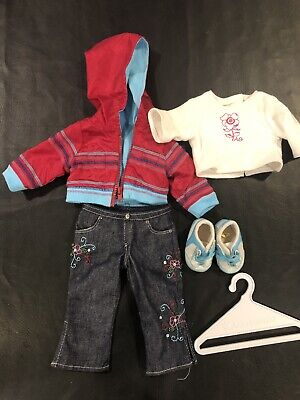"""American Girl 18"""" Doll Clothes Truly Me READY FOR FUN Meet Outfit & hanger"""