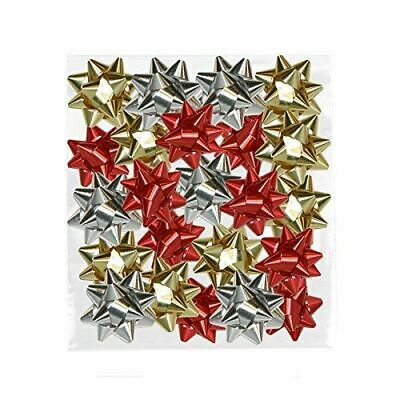 1200 Metallic Bows Gift Wrapping Present Gold Silver Red Xmas Christmas Decor