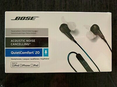Bose QC20 In-Ear Noise Cancelling Earphones QuietComfort 20 NEW Sealed in Box
