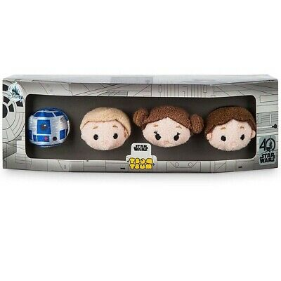 Disney Theme Park Star Wars 40th Anniversary ''Tsum Tsum'' Plush Set 2 1/2'' NEW