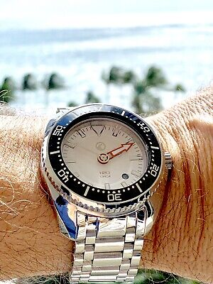 HIGHLY POLISHED H2O Helberg ORCA TORPEDO 44mm, INCLINE TURBINE ,Swiss ETA 2824
