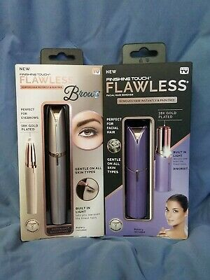 2 Finishing Touch Flawless Hair Women's Painless Hair Remover SEE PICS