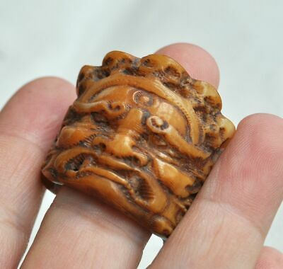 China Necklaces Pendants Antiques China Chinese Ancient Old Bone Hand Carved Ring M08 戒指 Zsco Iq