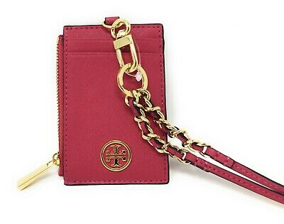 Tory Burch Robinson Saffiano Leather Lanyard - Peony Pink - $115 MSRP - NWT