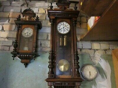 Antique German 'Gustav Becker' Twin Weight Vienna Wall Clock