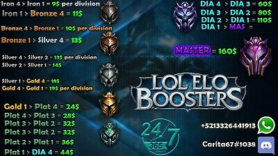 LEAGUE OF LEYENDS elo boostin any region im challenger also accounts for sale!