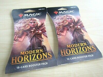 2 New Sealed Magic The Gathering Modern Horizons 15 Cards Booster Pack Art Card