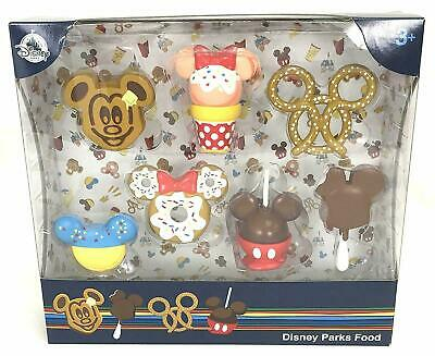 Disney Parks Food Figurine Play Set Cake Toppers 7 Piece Playset Mickey Minnie