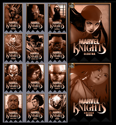 Topps Marvel Collect Card Trader Marvel Knights Final Printing Die Cut [14Cards]