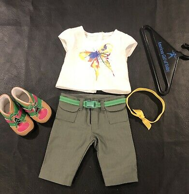"""American Girl 18"""" Doll Clothes Lea Rainforest Hike Outfit & hanger Truly Me GOTY"""