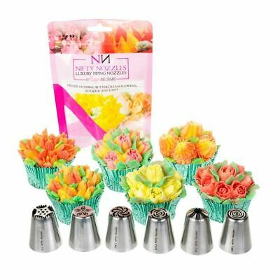 6 x Genuine Nifty Nozzles - Genuine Russian Flower Piping Tips