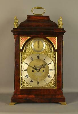 MAHOGANY FUSEE VERGE BRACKET CLOCK  - Henry Cooley , London