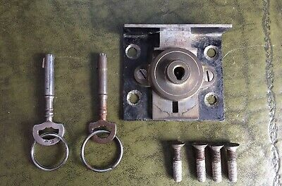 Rare Antique Cotterill's Patent Climax Detector Safe Keys And Lock