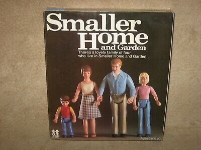 Tomy Smaller Homes Dollhouse Family of 4 Home and Garden Doll House Furniture