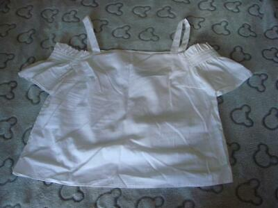Girls Bnwt New Look White Bardot Top Age 11 Years