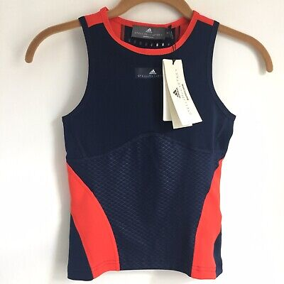 Adidas Stella McCartney Tank Girls Large Navy Red Barricade Tennis Youth CY2335