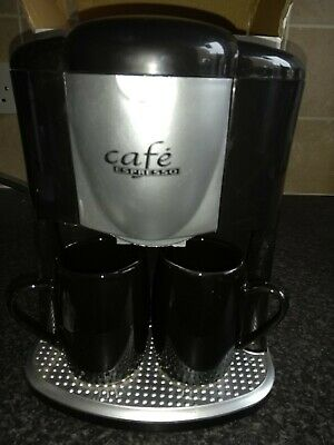 Coffee Maker - Cafe Espresso CM-303 Black brand new in box c/w 2 Coffee cups