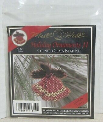 Mill Hill Counted Glass Bead Ornament Kit - Holiday Ii Bells H14
