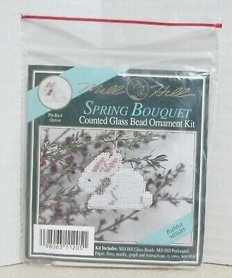 Mill Hill Counted Glass Bead Ornament Kit - Spring Bouquet Rabbit Mhsb5