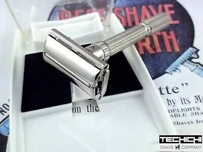1964 J4 Gillette Slim Adjustable Vintage Double Edge Safety Razor for Shaving