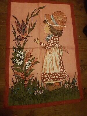 VINTAGE 1970s HOLLY HOBBIE-STYLE TEA TOWEL