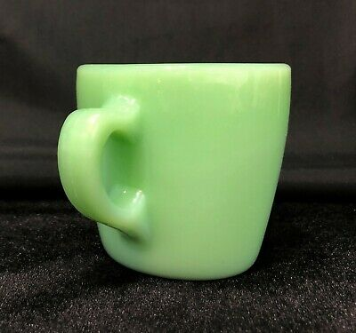 Vintage Fire King Jadite Heavy Duty Restaurant Coffee Mug Cup Jadeite Hocking